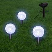 Lampy Ogrodowe Ze Szpikulcami I Panelem Solarnym, 3 Led
