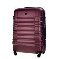 Średnia walizka KEMER SOLIER 838 Bordowa