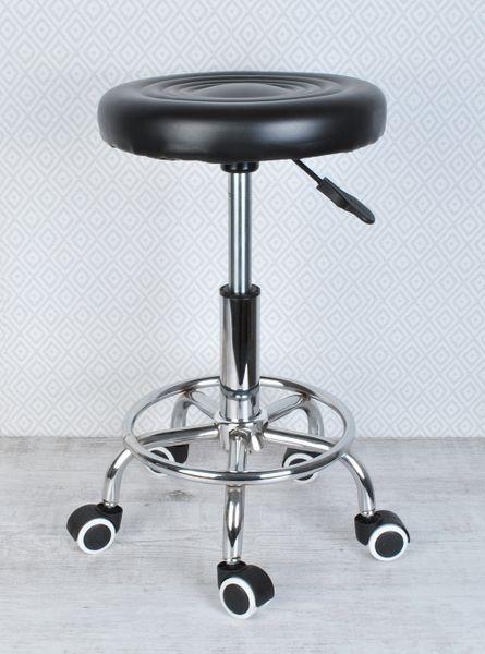 Stołek Fryzjerski Kosmetyczny Krzesło HOKER czarny 5178 zdjęcie 3