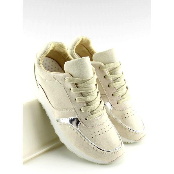 Buty sportowe beżowe LR88082 Beige r.38 zdjęcie 4