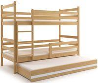 Łóżko piętrowe dwuosobowe dziecięce 200x90 dziecko 3osobowe+ SZUFLADA