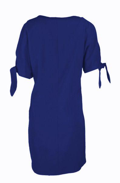 Luźna sukienka koktajlowa - chaber Rozmiar - 42 zdjęcie 8