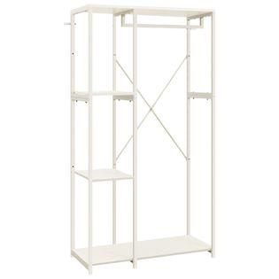 Szafa garderobiana, biała, 90x40x167 cm, metal i płyta