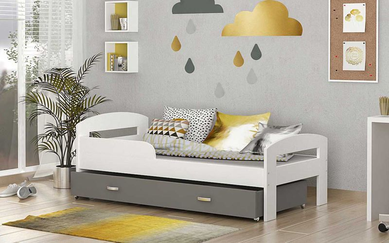łóżko Dla Dzieci Grześ Color 80x160 Materac Bez Szuflady