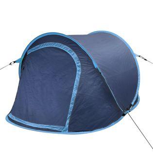 Namiot campingowy dla 2 osób granatowy/jasny niebieski VidaXL