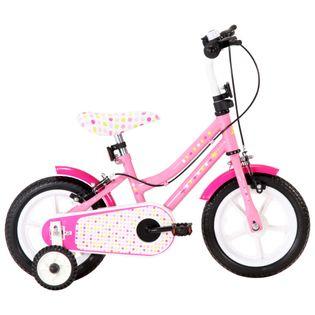 Rower dla dzieci, 12 cali, biało-różowy