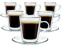Szklanki Termiczne do Kawy Herbaty Lungo 220ml 6 sztuk