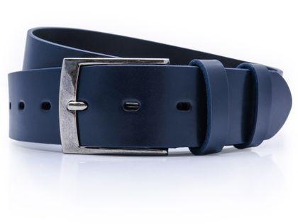 Granatowy męski pasek do jeansów  P40 Rozmiar paska - 110 cm