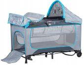Bujane łóżeczko turystyczne z akcesoriami