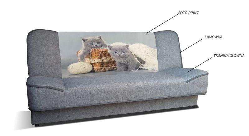 Kanapa Wera Rozkładana Tapczan Sofa Wersalka łóżko Młodzieżowa Ribes