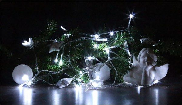Lampki świąteczne 30 LED na baterie 3m zimny biały Joylight zdjęcie 4