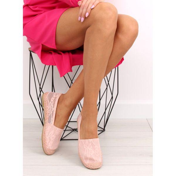 Espadryle koronkowe różowe BB15P Pink r.36 zdjęcie 2