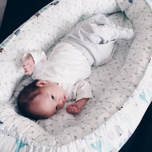 Dwustronny Kokon niemowlęcy Paprocie zdjęcie 2