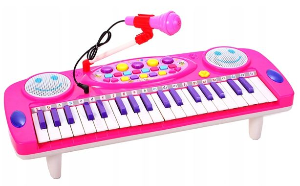 Keyboard Organy Pianino dla dzieci z mikrofonem Różowe Y257R na Arena.pl