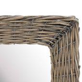 Lustro W Wiklinowej Ramie, Brązowe, 50 X 100 Cm zdjęcie 3