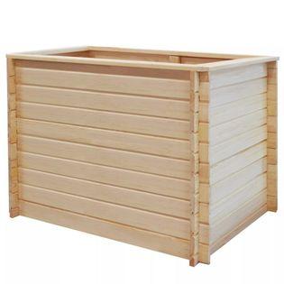 Lumarko Podwyższona donica, 100x100x80 cm, drewno sosnowe, 19 mm