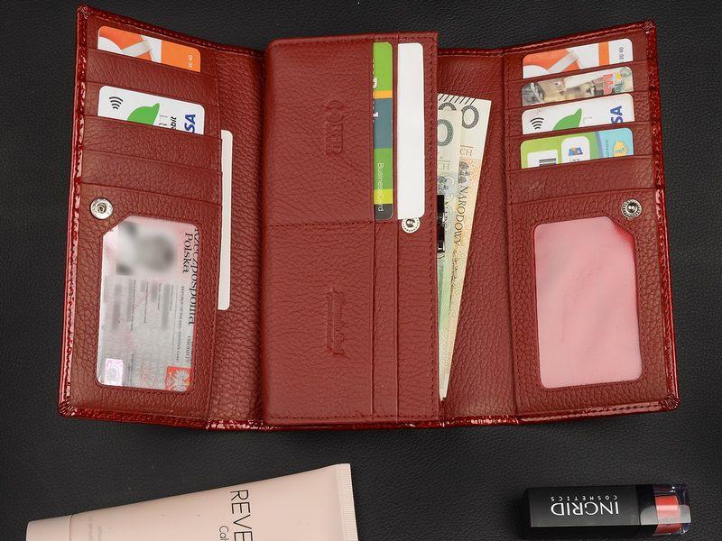 Duży damski portfel skórzany bigiel liście pudełko U68 zdjęcie 4