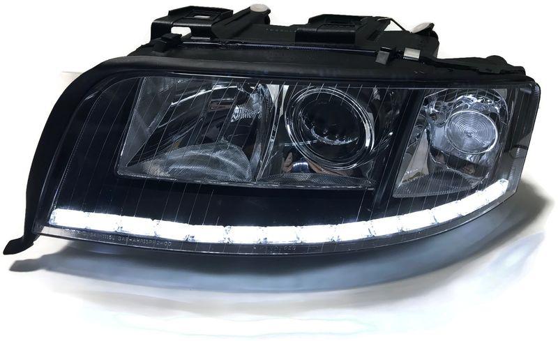Lampy Audi A6 C5 Bixenon Soczewki Led Dzienne Kier Barwa Xenon 6000k