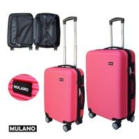 WALIZKA walizki kółka torba samolot ZESTAW M + L RÓŻOWA 1356 + 1357