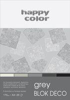 Blok techniczny kolorowy Deco szary A4 Happy Color