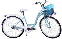 Rower miejski damski 26 Kozbike 24 3 biegi morsko-biały