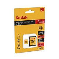 Karta Pamięci Micro-Sd Z Adapterem Kodak Uhs-I U1 Żółty 32 Gb