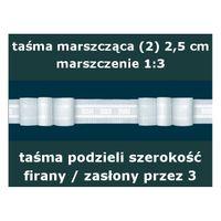 Taśma marszcząca (2) wysokość 2,5 cm | WN0002