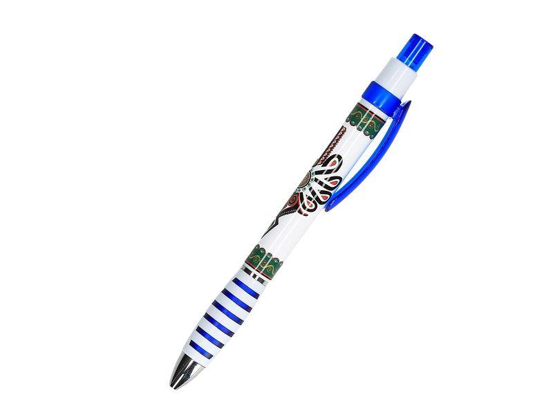 Długopis folk - parzenica - niebieski zdjęcie 1