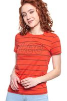 LEE LEE STRIPED TEE BURNED RED L42TQQLB XS