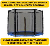 ZEWNĘTRZNA SIATKA OCHRONNA DO TRAMPOLINY TRAMPOLINA 183cm 6ft