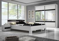 Szafa, łóżko, stolik, Sypialnia MAXIMA 233 połysk