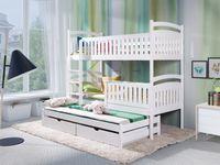 Łóżko piętrowe 3 osobowe ZOSIA 80x180 + materace