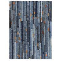 Patchworkowy dywanik z dżinsu 120x170cm niebieski VidaXL