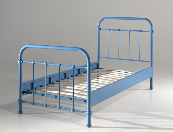 Metalowe łóżko New York Dla Dziecka Czerwone 96x212 Cm