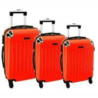 Zestaw 3 walizek PELLUCCI RGL 735 Pomarańczowe