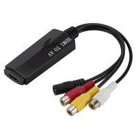Konwerter obrazu i dźwięku z HDMI na AV 3x cinch RCA (żeńskie)