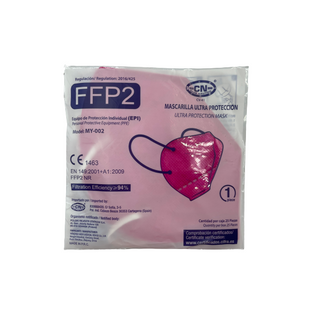 Maseczka ochronna FFP2 CE 1szt różowa
