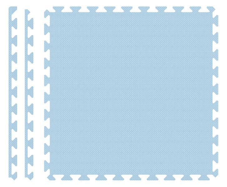 PUZZLE PIANKOWE MATA 4szt 62x62x1,1 cm Pastelowy błękit na Arena.pl
