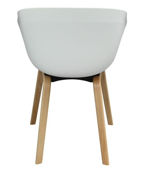 MODESTO fotel ANGEL biały - polipropylen, podstawa bukowa zdjęcie 9