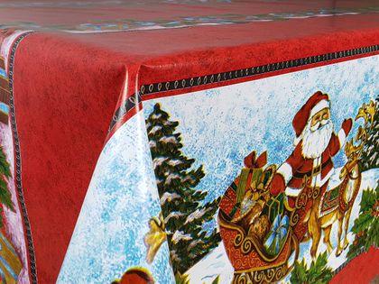 Cerata Świąteczna Święta Obrus Stół Mikołaj 140x10 CA409