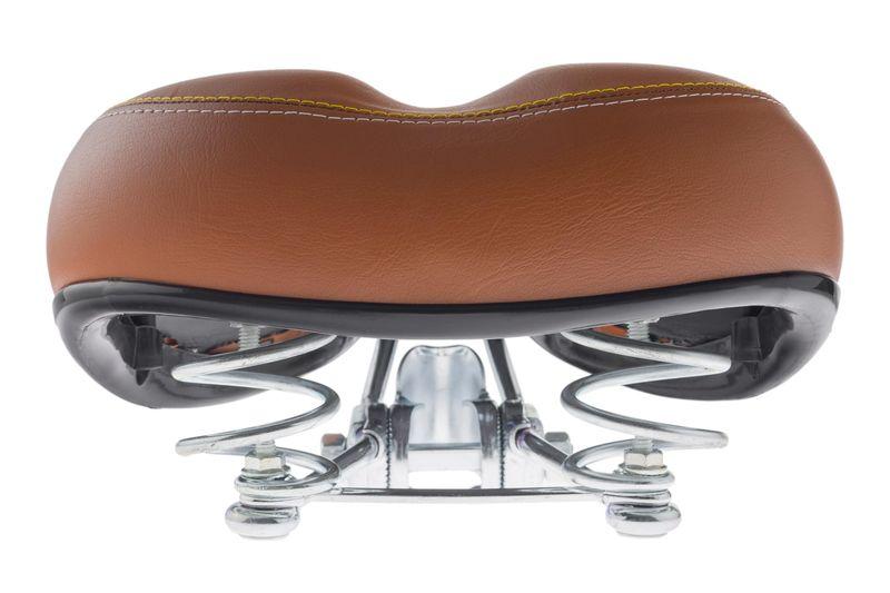 Siodełko szerokie na spężynie COMFORT Vellberg brązowe szyte 018 zdjęcie 3