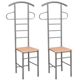 Krzesło Z Wieszakiem Na Garnitur, 2 Szt., Metalowe