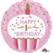 Amscan Balon foliowy 1 Urodziny Tort
