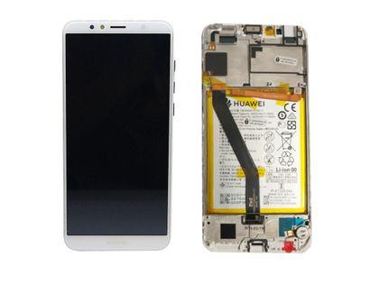 100% Oryg Nowy Przód z LCD i baterią Y6 2018 biały