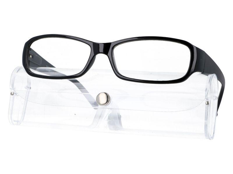 Czarne okulary zastępcze do czytania plusy +3.50 zdjęcie 1