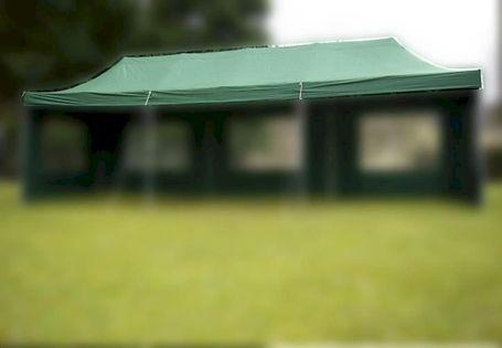 Dach do pawilonów namiotów ogrodowych 3x9m automatycznych - zielony