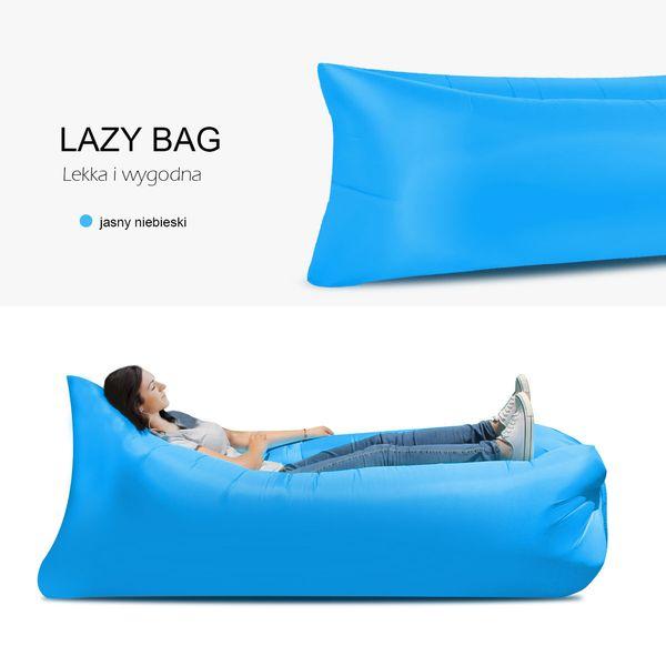 Lazy bag air sofa materac leżak łóżko 9 kolorów zdjęcie 2