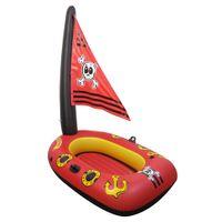 MATERAC DMUCHANY do pływania łódź piracka 110x70cm