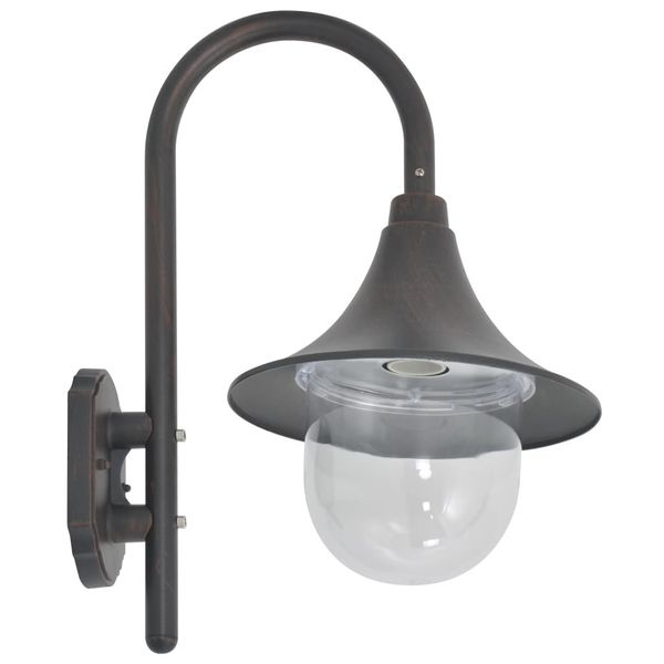 LAMPA LAMPKA ŚCIENNA OGRODOWA ALUMINIUM 42cm zdjęcie 3