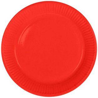 """Talerzyki papierowe """"Classic"""", czerwone, FOLAT, 23 cm, 8 szt"""